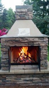 52 best outdoor fireplace images on Pinterest | Backyard ideas ...