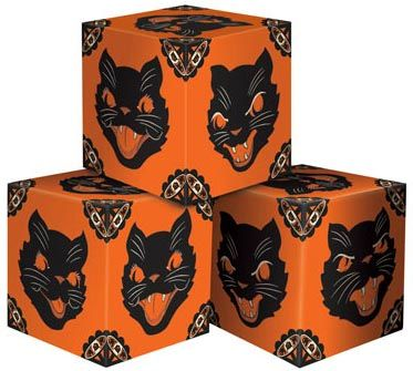 vintage beistle reproduction cat favor boxes halloween for sale - Vintage Halloween Decorations For Sale