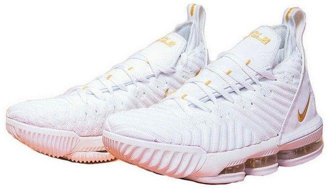 release date 5e52f 36c0e Nike LeBron 16 XVI White Golden