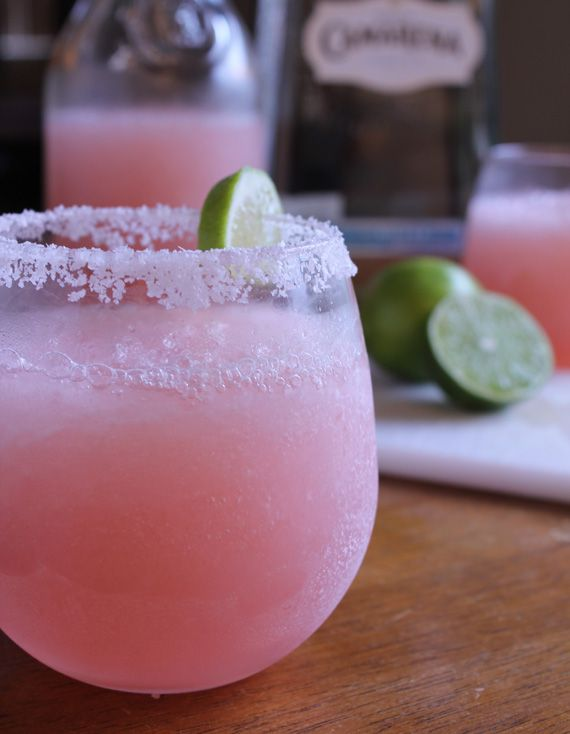 Pink Grapefruit Margarita in honor of Breast Cancer Awareness month #pink #cocktail