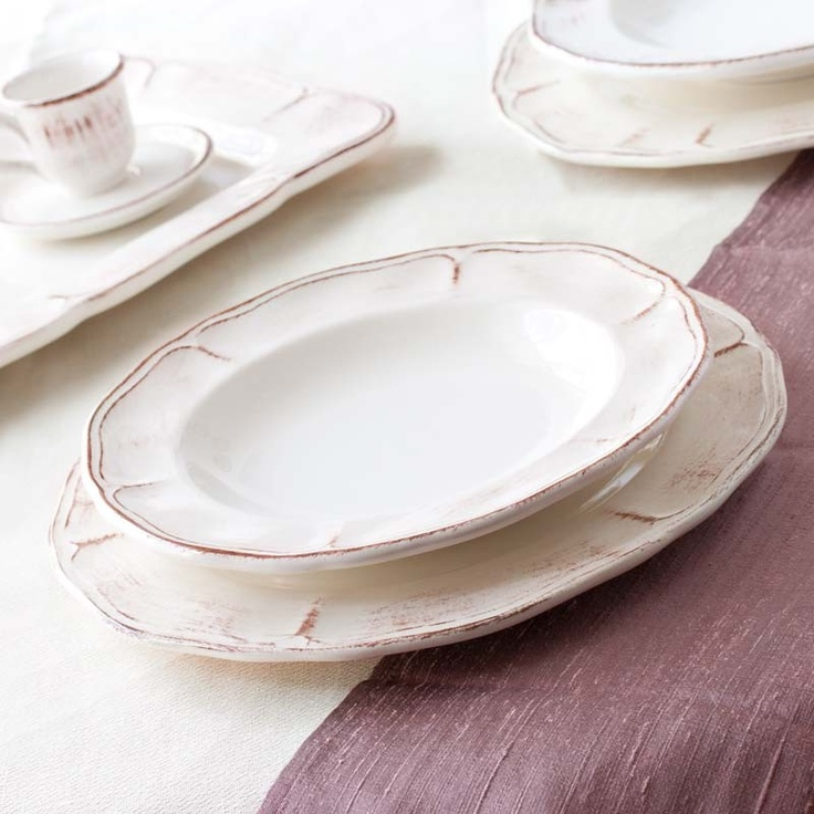 Tuscany is our ceramic dinnerware gently antiqued realized in high quality material 100% MADE. Dinner SetsCeramic PlatesItalian ... & 13 best Products I Love images on Pinterest | Dishes Dinner ware ...