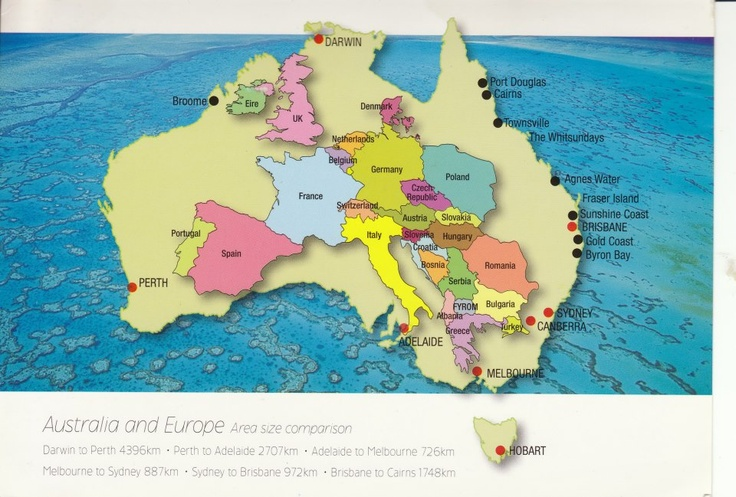 Australia is bigger than you realize see how much of