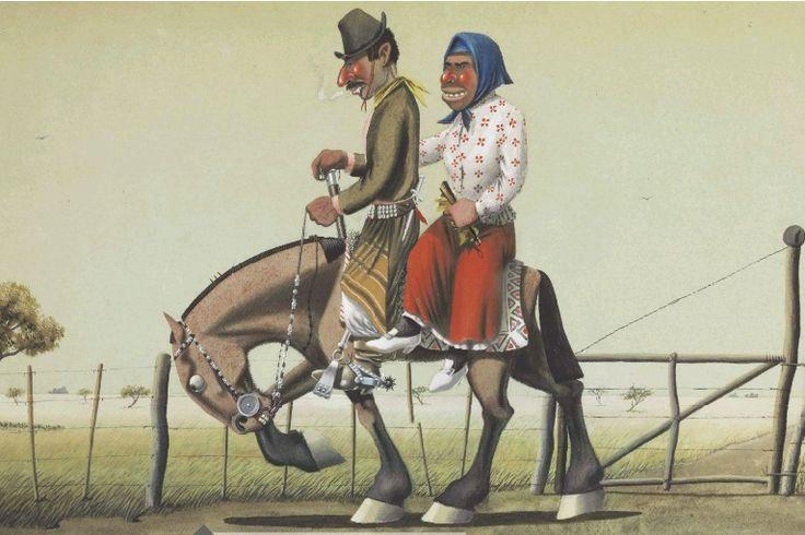 gaucho y china a caballo
