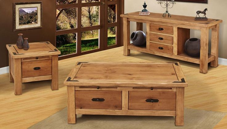 Rustic Pine Coffee Table With Storage