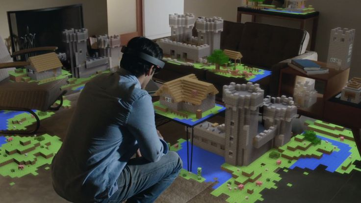 Microsoft's new HoloLens headset lets its wearer augment their world with apps, games, and other information: http://theverge.com/e/7629742