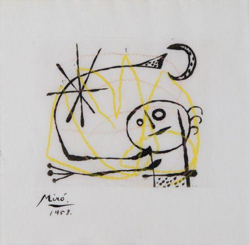 Joan Miró, La Bague D'Aurore (Dupin 126), 1958.