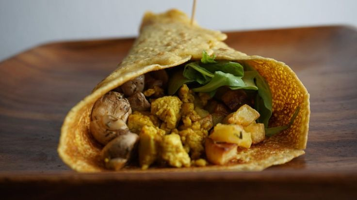 Breakfast Burritos with Chickpea Crepes