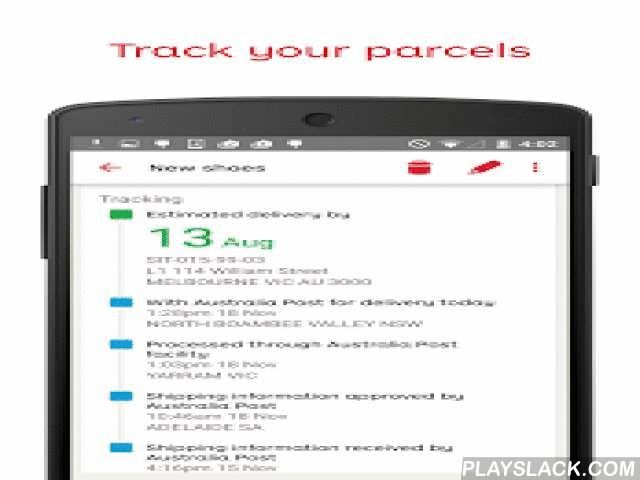 Australia Post  Android App - playslack.com ,  Get the Post Office in your pocket. Access all of your favourite Australia Post tools on your phone or tablet, manage your deliveries, pay your bills and much more...Features:• Keep track of your important deliveries – both on your mobile devices and on your desktop• Sign up for 24/7 Parcel Lockers to get your deliveries when and where it suits• Easily collect Parcel Locker deliveries using your mobile phone• Get deliveries that need a signature…