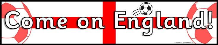 England football/soccer display banners