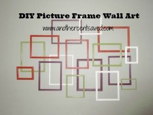 DIY Picture Frame Wall Art For Less