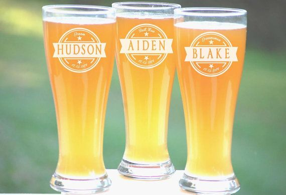 Groomsmen Gift 13 Personalized Beer Glasses by UrbanFarmhouseTampa