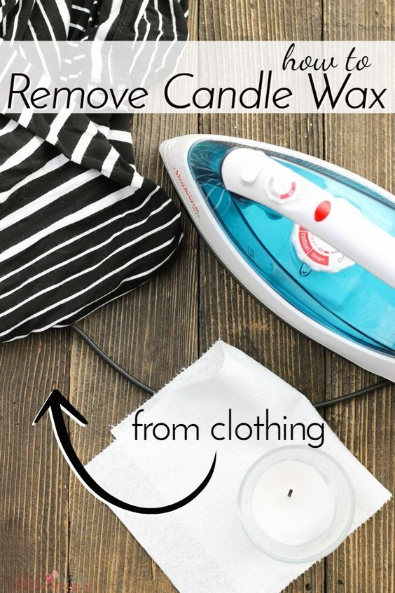 Stop. Before you do anything else, if you have a melted mess to clean up, read this quick tutorial on how to remove candle wax from clothing FIRST.