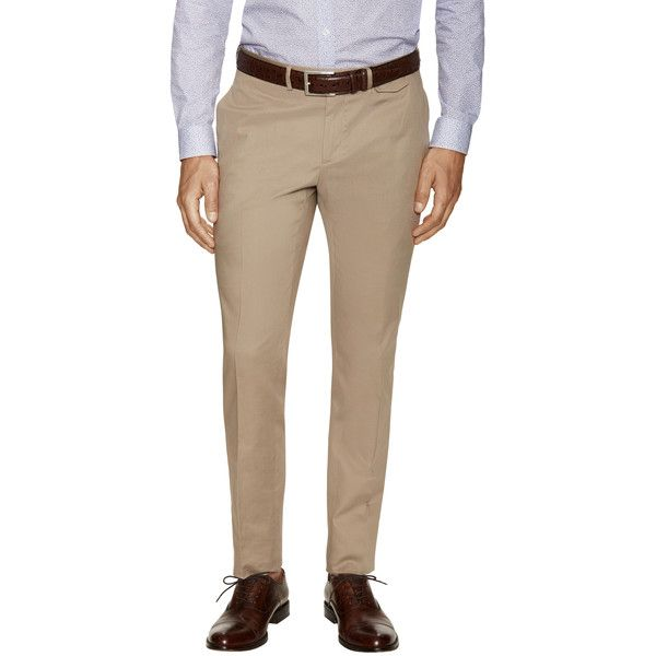 Ermenegildo Zegna Men's Slim Fit Chino Pants - Medium Beige, Size 46 (14.770 RUB) ❤ liked on Polyvore featuring men's fashion, men's clothing, men's pants, men's casual pants, medium beige, mens woven pants, mens zip off pants, mens slim fit chino pants, mens chinos pants and mens chino pants
