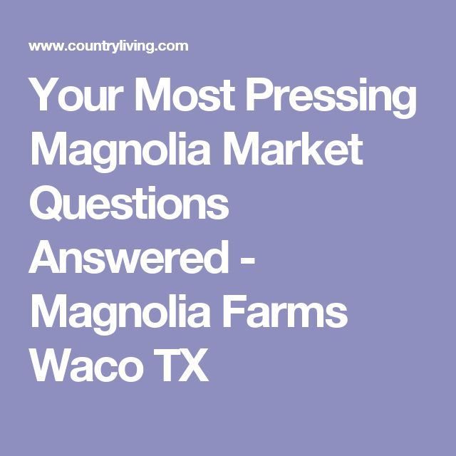 Your Most Pressing Magnolia Market Questions Answered - Magnolia Farms Waco TX