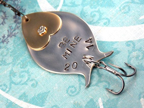 Personalized Fishing Lure Custom Fishing Lure BE by SimplySilverr, $19.00