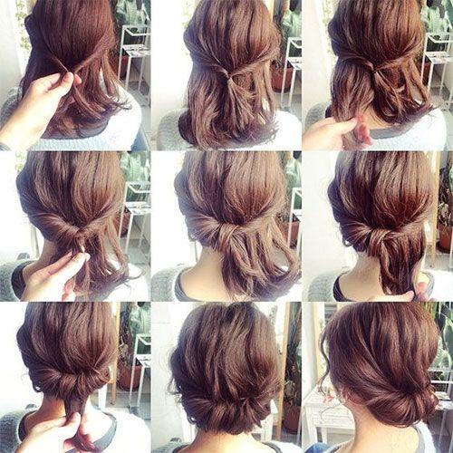 updo styles for short hair