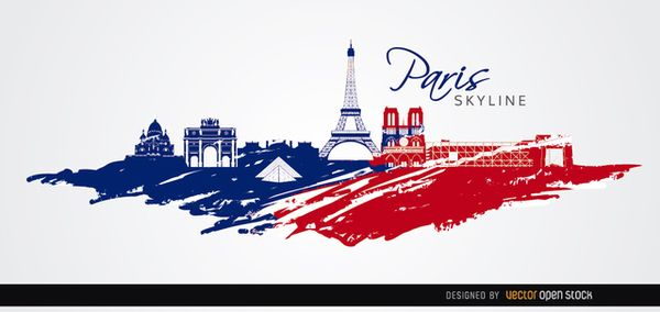 This is a cool background of the city of Paris