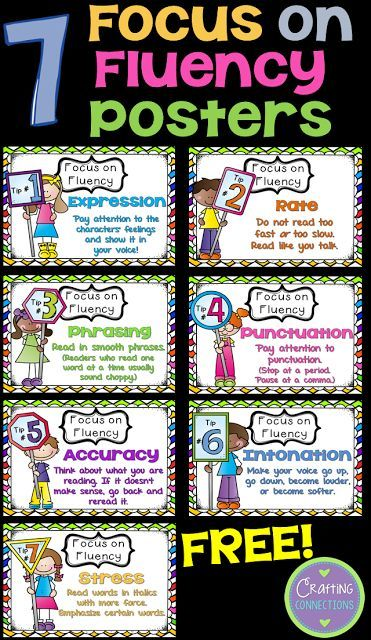 FREE Fluency Posters (plus MORE free fluency activities!)