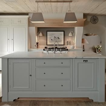 Light Gray KItchen Island, Eclectic, kitchen, Sims Hilditch