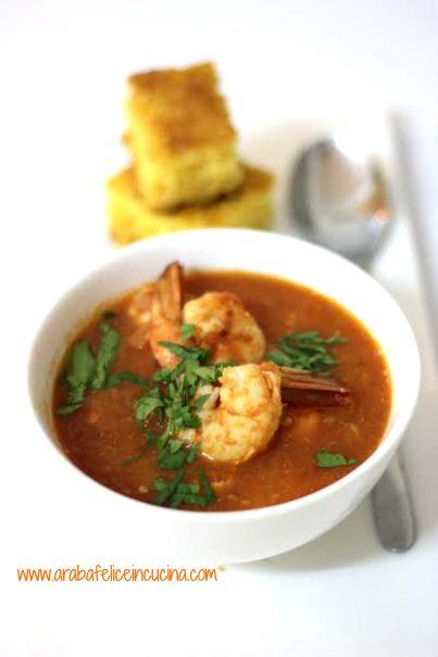 Arabafelice in cucina!: Zuppa di salmone e gamberi con cornbread