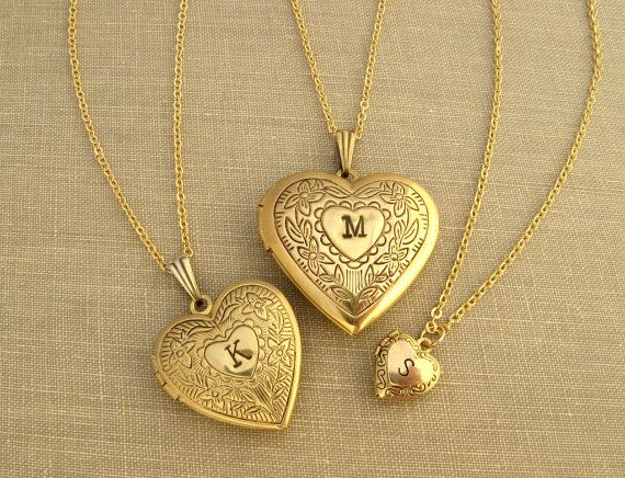 Love these! Mother daughter (and grandma) personalized lockets by SaysTheStone