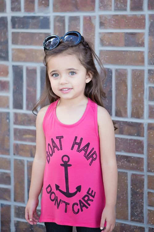 Girls Boat Hair Don T Care Tank Coral Ryleigh Rue