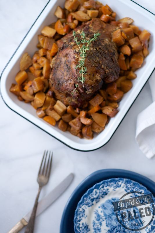 This Paleo Slow Cooker Lamb Roast Recipe has all the comforting flavors of fall, and it's made in the slow cooker which makes it super easy!