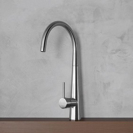 "Kitchen Mixer ""Nala"" now selling!  . . . . . . #kitchentapware #kitchendesign #renovations #tapware #design #sleek #simple #style #brushednickel #kitchenmixer #contemporary #renovationinspo #kitcheninspiration #interiorideas #interiorstyling #modern #sophisticated"