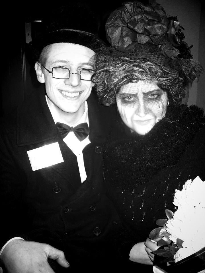 Widow costume black man woman
