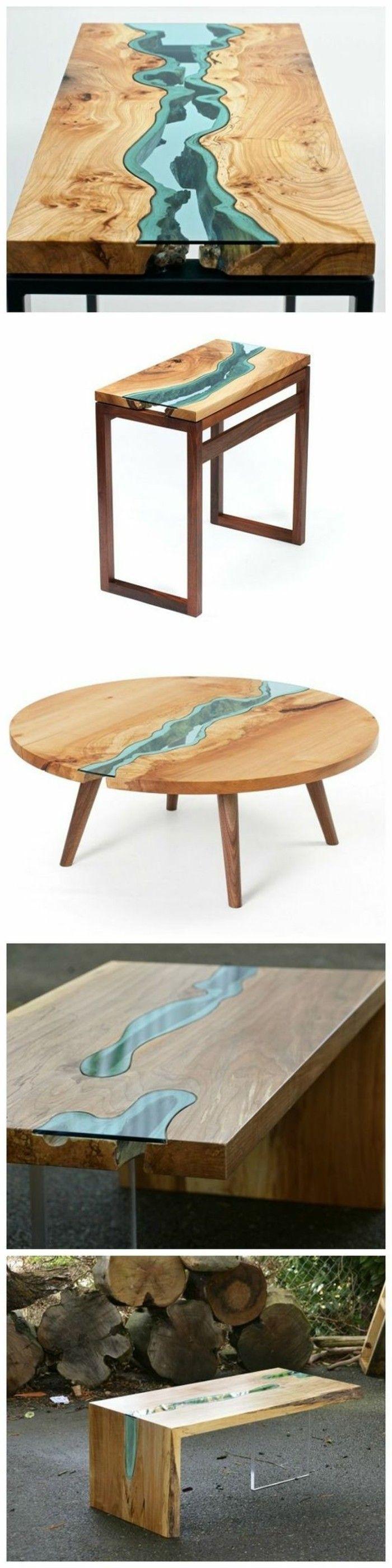Diy Moebel Kreative Wohnideen Tisch Aus Holz Und Glas