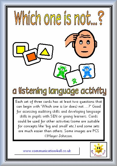 """FREE - understanding negation - """"Which one is NOT"""" - simply perfect for little ones. Repinned by www.preschoolspeechie.com"""
