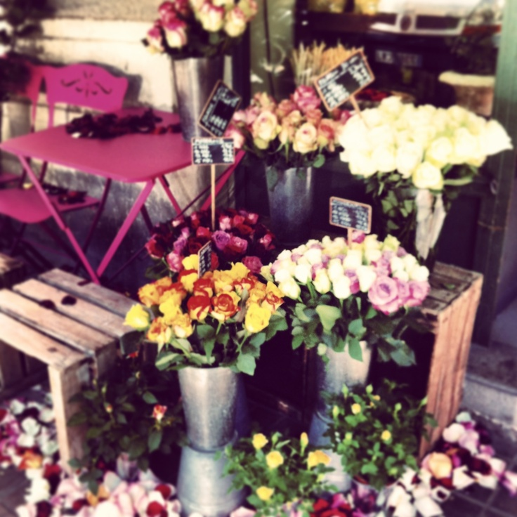 A flower store in Barcelona