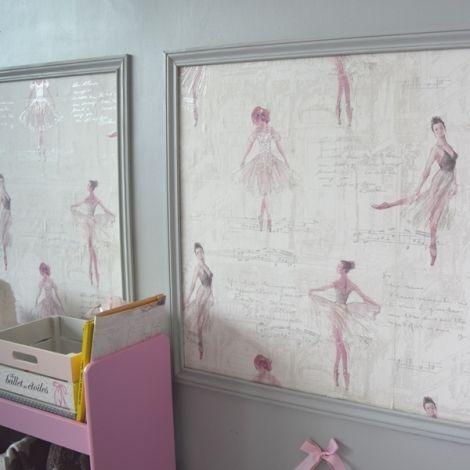 Les 25 meilleures id es de la cat gorie chambre de ballerine sur pinterest - Papier peint fille chambre ...