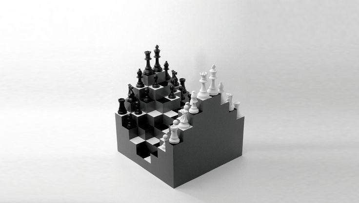 Multilevel Chess Board Chess board, Diy chess set, 3d