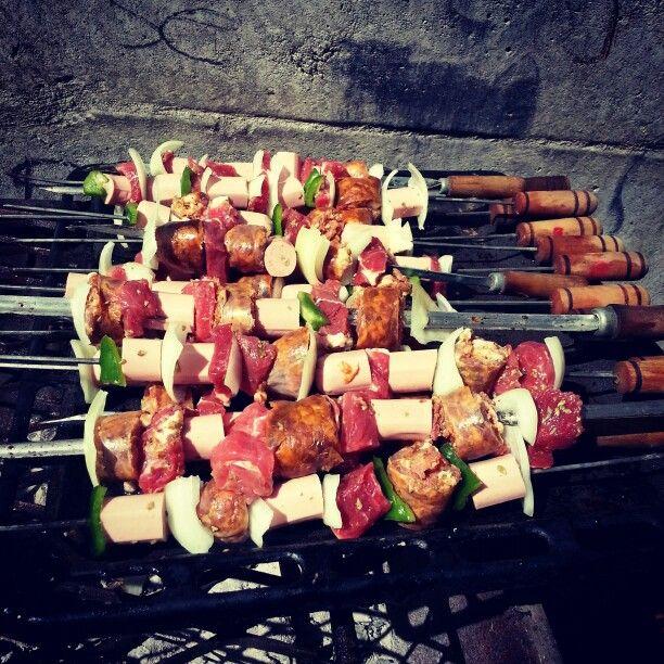 Comida de fiestas patrias exquisitos los #Anticuchos#Chile