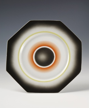 Plate by Nora Gulbrandsen for Porsgrund Porselen. Production year 1930.
