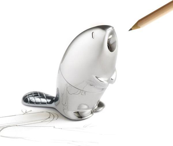 Kastor - Adorable new beaver pencil sharpener/paper weight by Rodrigo Torres for Alessi