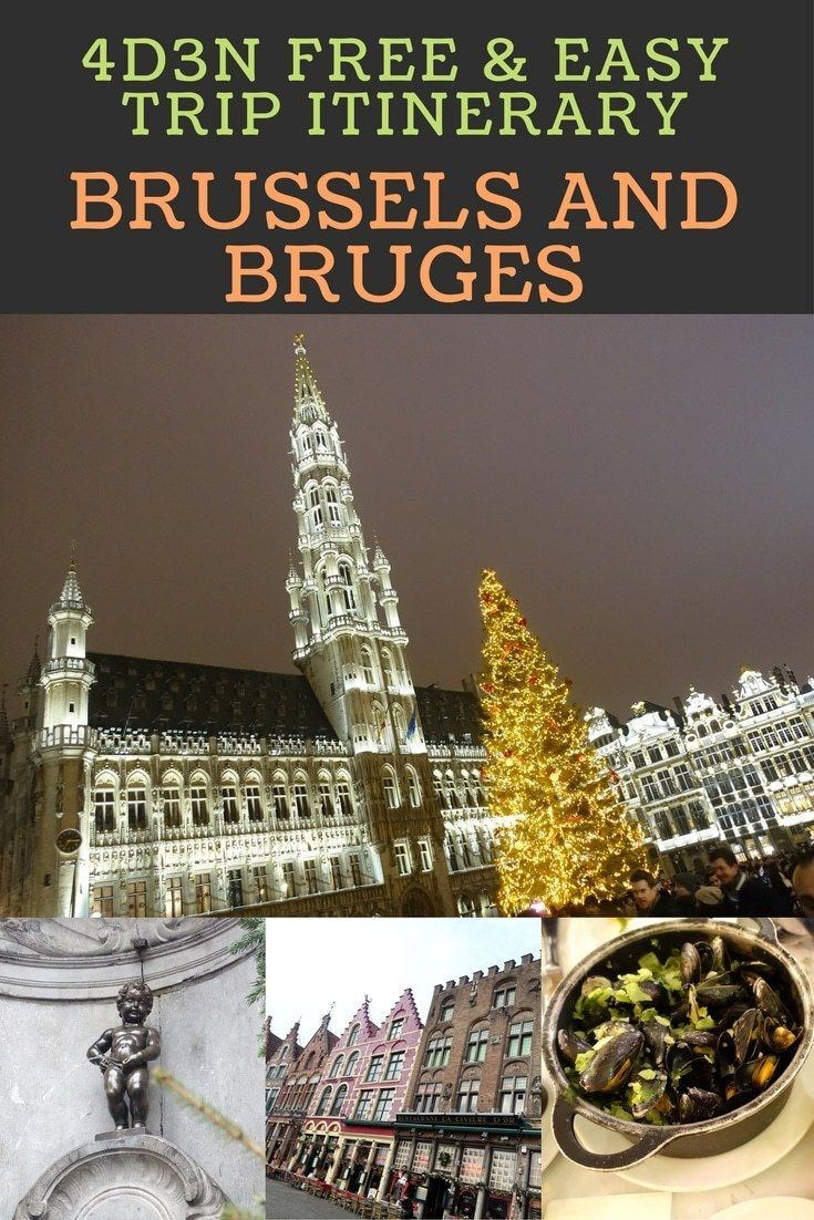 Here's my Brussels and Bruges itinerary for my recent trip to Belgium just before Christmas. Ideal for couples who are looking for free & easy things to do around Brussels. A day trip to Bruges is highly recommended as this medieval town is a very captivating place to visit.