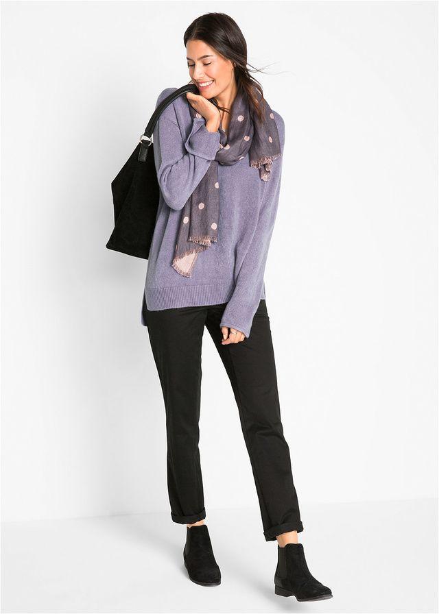 Sweter oversize z rozcięciem Całkowita • 37.99 zł • bonprix