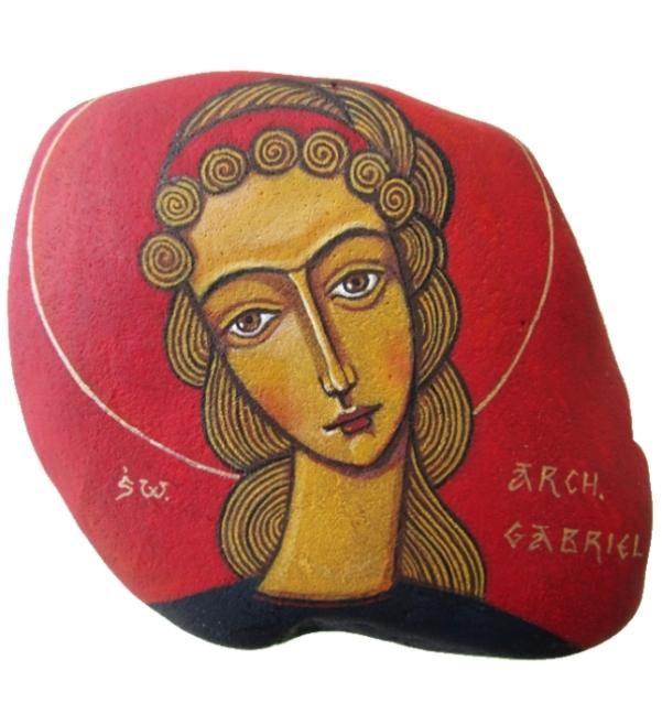 ikony ręcznie malowane Archanioł Gabriel