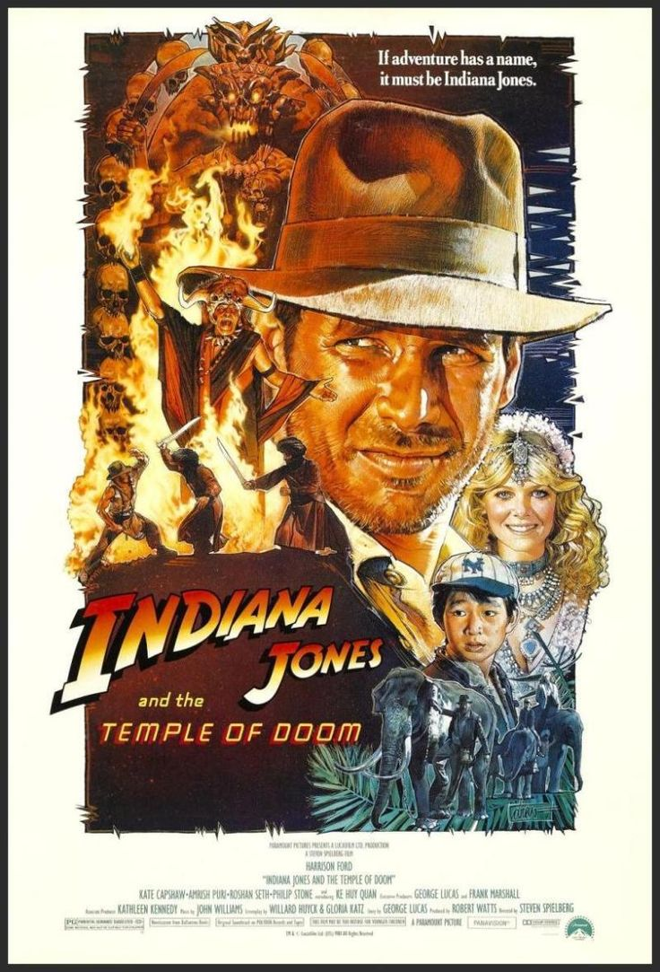 Indiana Jones and the Temple of Doom Movie Poster (1984)