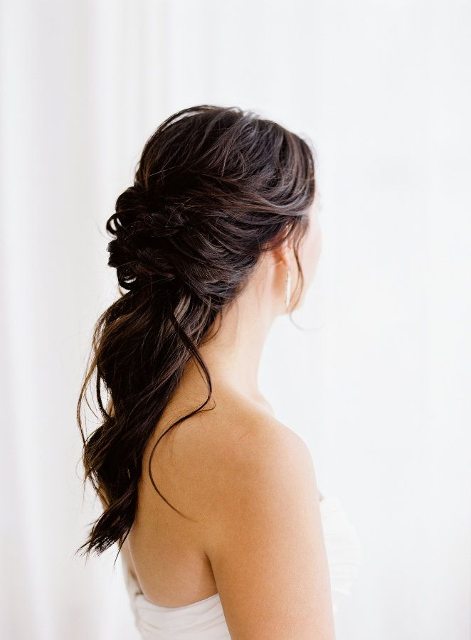 Romantic half up half down hairstyle: http://www.stylemepretty.com/little-black-book-blog/2017/02/16/romantic-baltimore-wedding-turkish-rug/ Photography: Michael and Carina - http://www.michaelandcarina.com/