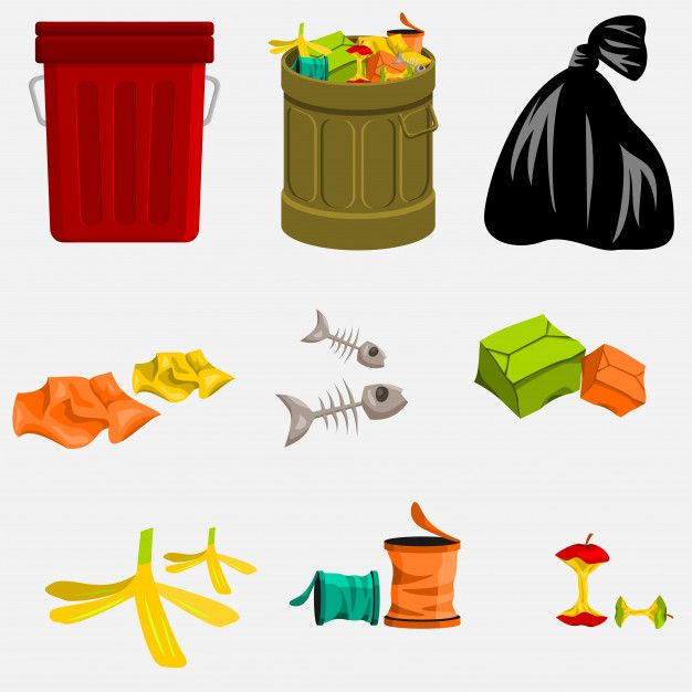 Editable Trash Can And Garbage Tumblr Stickers Trash Cartoons Png