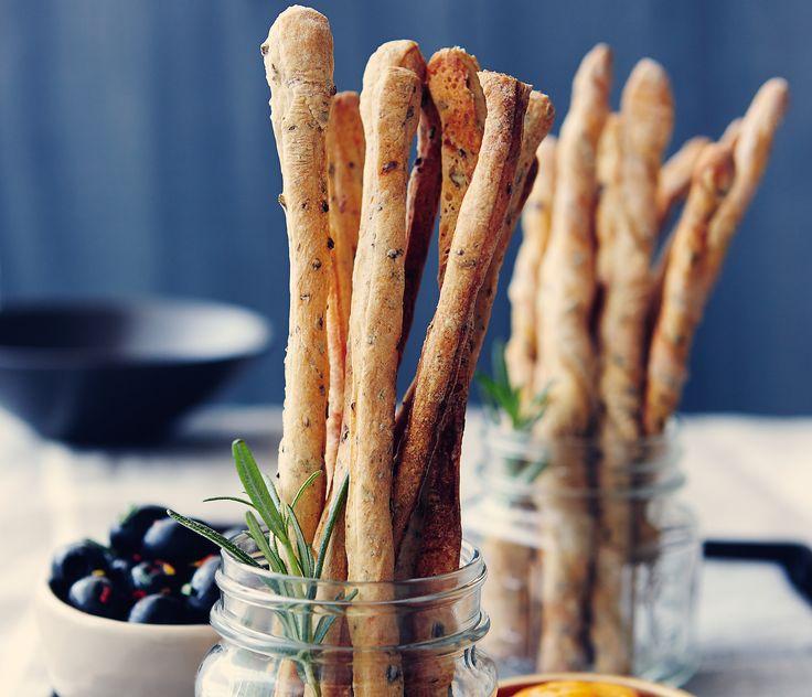 Rosemary Black Olive Grissini Recipe