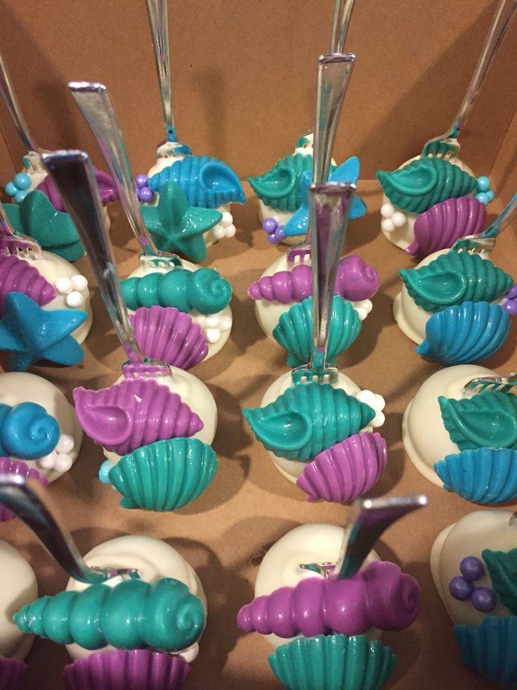 Little Mermaid Dinglehopper Cake Pops