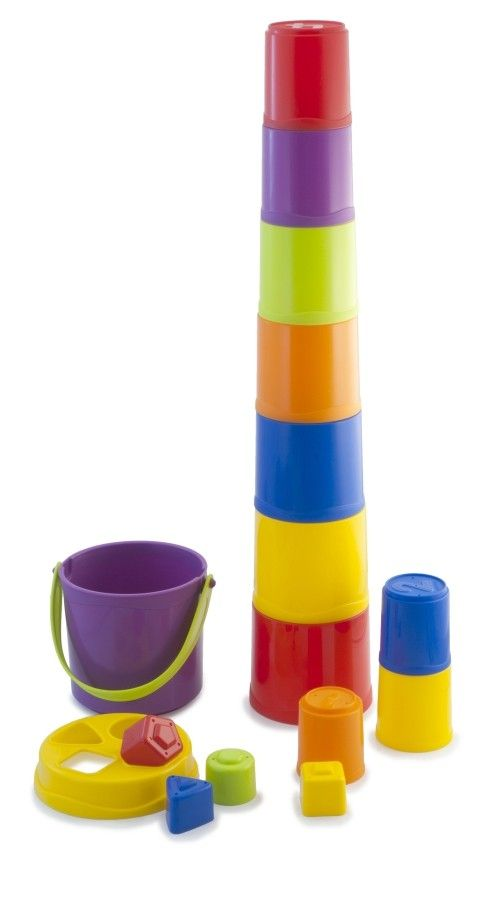 Miniland - Stacking Cups Giantte my 2 year old would love playing with these in the bath #EntropyWishList #PinToWin