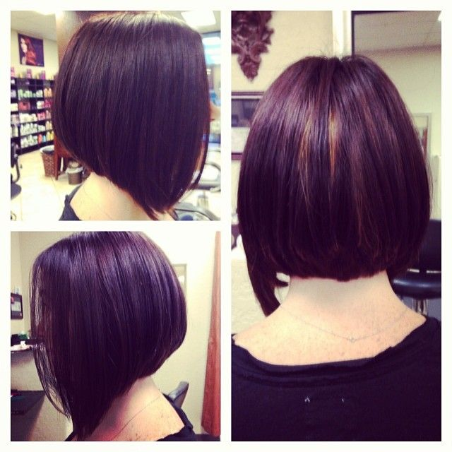 Inverted Bob With Extra Length In The Front Peek A Boo Highlights