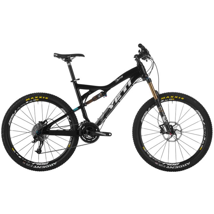 Yeti 575 Enduro Mountain Bike 2013 -$3199.95 - Yeti 575 rides on a Mavic Crossride Wheelset wrapped in Maxxis tires. Drivetrain duty is covered by a mix of SRAM and Shimano. Up front is an SLX front derailleur and a SRAM S1000 crankset with 22/32/44 tooth gearing. Out back is an X9 rear derailleur and 11-36T SRAM cassette. Avid Elixir 5 brakes keep your speed in check, while an alloy Truvativ T20 stem, seatpost, and handlebar occupy the cockpit.  #Yeti #Yeti575 #mountainbike #ad