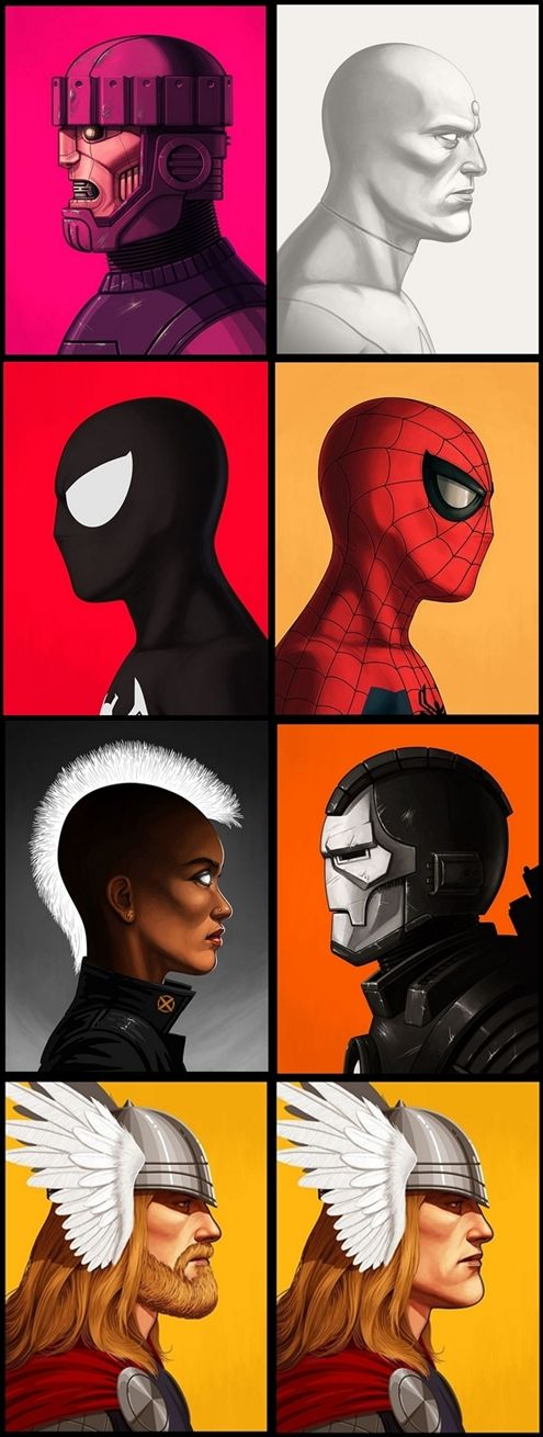 MARVEL-Themed Showcase At The Mondo Gallery / Spiderman / Thor / Storm / War Machine / sentinel