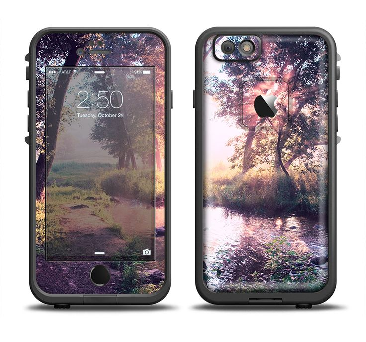 The Vivid Colored Forrest Scene Apple iPhone 6/6s Plus LifeProof Fre Case Skin Set from DesignSkinz
